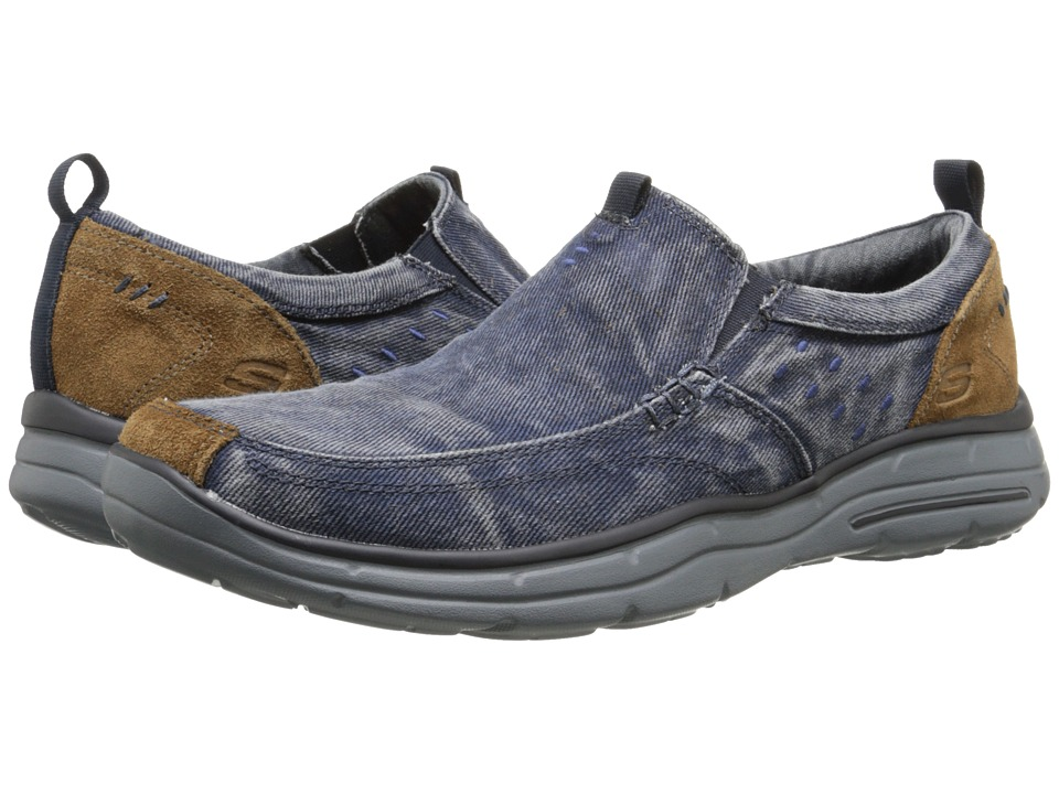 UPC 889110042670 product image for SKECHERS - Relaxed Fit Glides - Benideck  (Navy) Men's ...