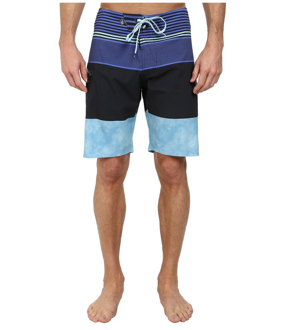 Volcom - Mod-Tech Linear Mod Boardshort (Sulfur Blue) Men's Swimwear