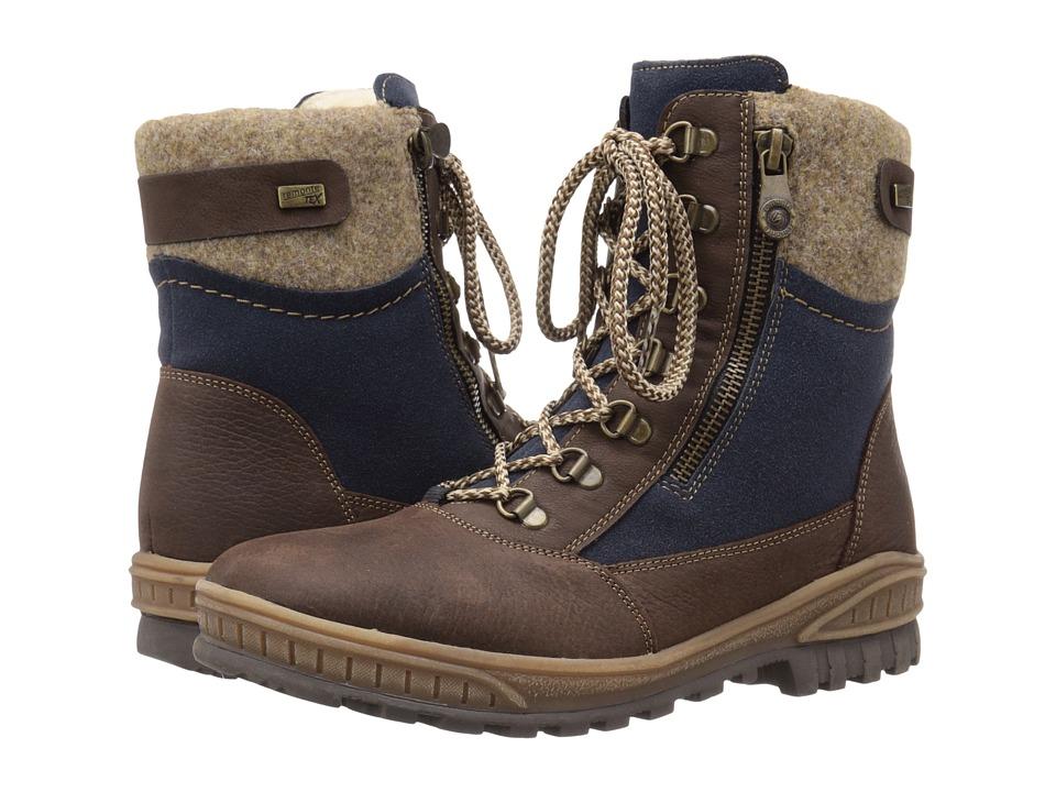 Rieker - D0679 (Kastanie Medway/Marine/Virage/Wood Filz/Kakao Nil) Women's Lace-up Boots
