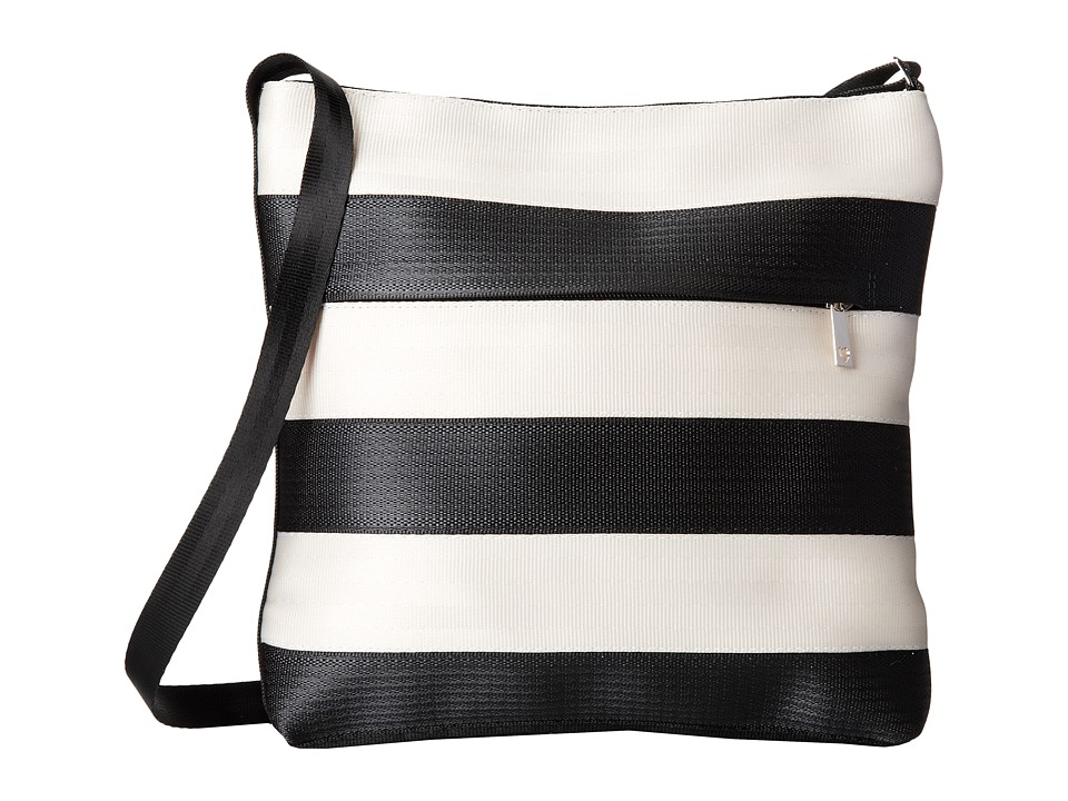 Harveys Seatbelt Bag - Streamline Crossbody (Salvage Black/White) Cross Body Handbags