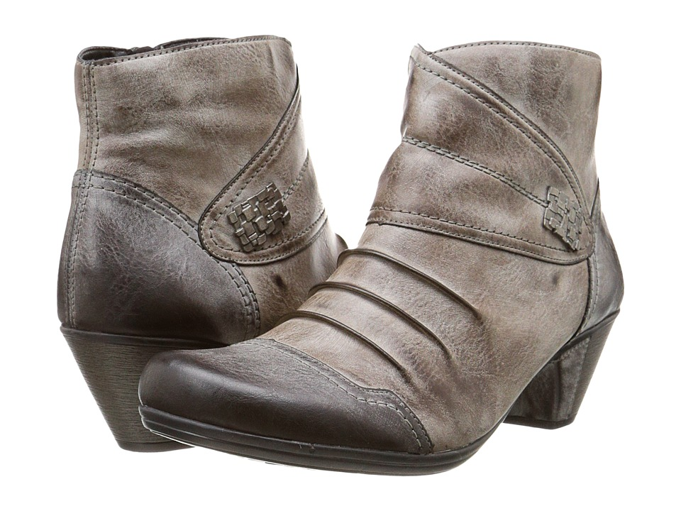 Rieker - D1298 (Asphalt Serbia/Cigar Serbia) Women's Dress Boots