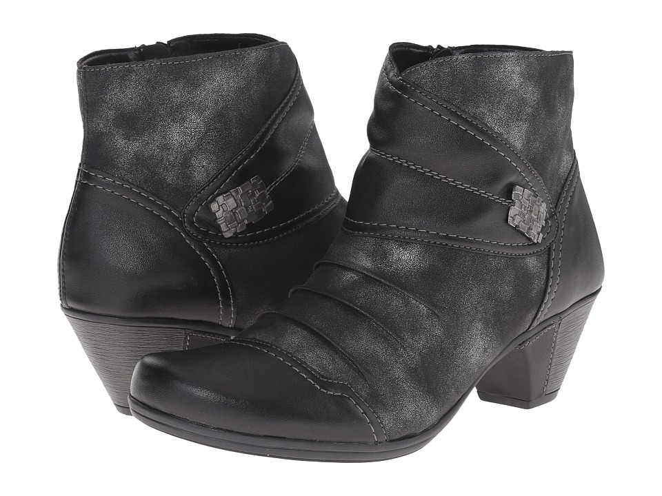 Rieker - D1298 (Schwarz Fino/Graphite Olymp) Women's Dress Boots