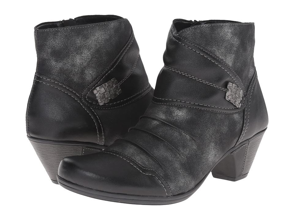 Rieker - D1298 (Schwarz Fino/Graphite Olymp) Women's Dress Boots