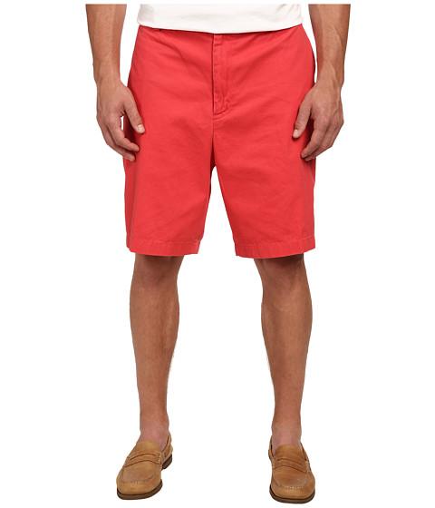 Nautica Big & Tall - Big Tall Twill Flat Front Shorts (Sailor Red) Men