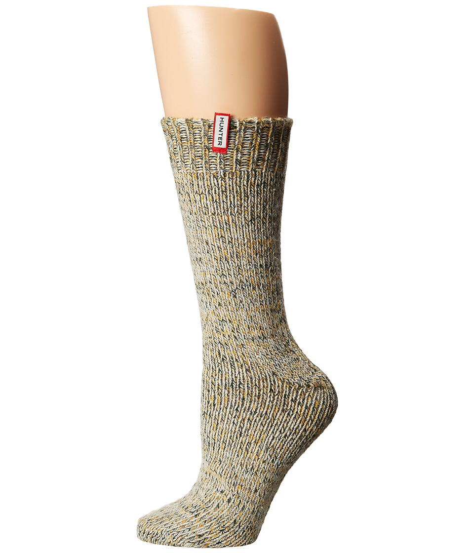 Hunter - Chunky Mouline Sock (Swamp Green/Burnt Sulphur Multi) Women's Knee High Socks Shoes