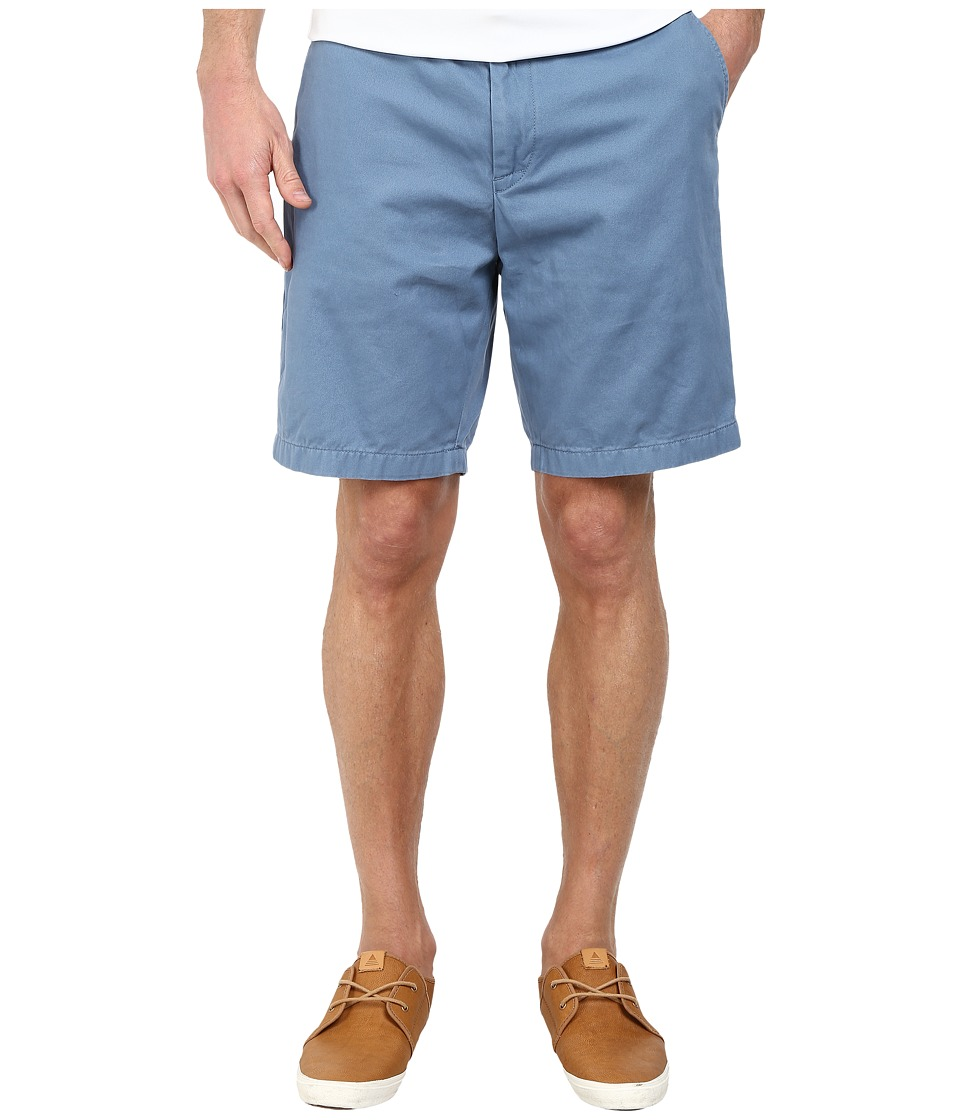 Nautica - Fashion Color Of Anchors Flat Front Deck Shorts (Tide Blue) Men