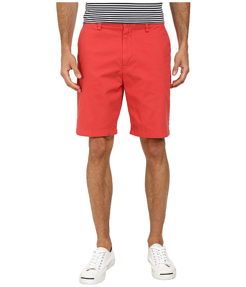 Nautica - Fashion Color Of Anchors Flat Front Deck Shorts (Sailor Red) Men's Shorts