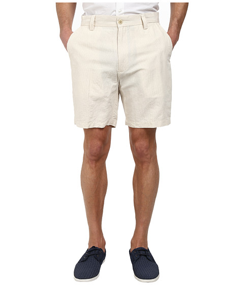 Nautica - Yarn Dyed Stripe Shorts (True Stone) Men's Shorts