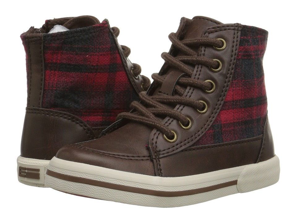 Elements by Nina Kids - Luis (Toddler/Little Kid/Big Kid) (Brown/Red) Boys Shoes