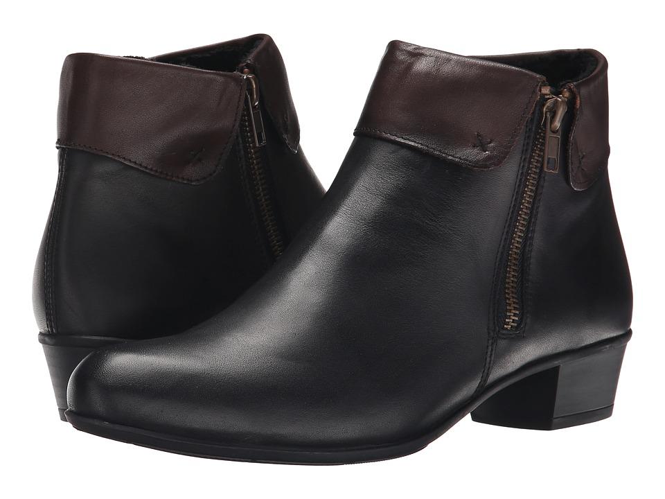 Rieker - D6572 Malida 72 (Schwarz Cristallino/Havanna Cristallino) Women's Dress Boots