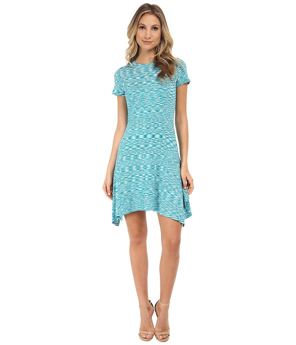 MICHAEL Michael Kors Space Dye Sweater Dress (Tile Blue) Women