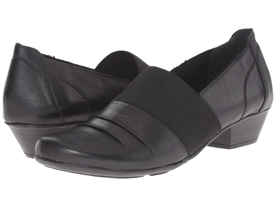 Rieker D7349 (Black Cristallino/Black Elastique/Black Fino) Women