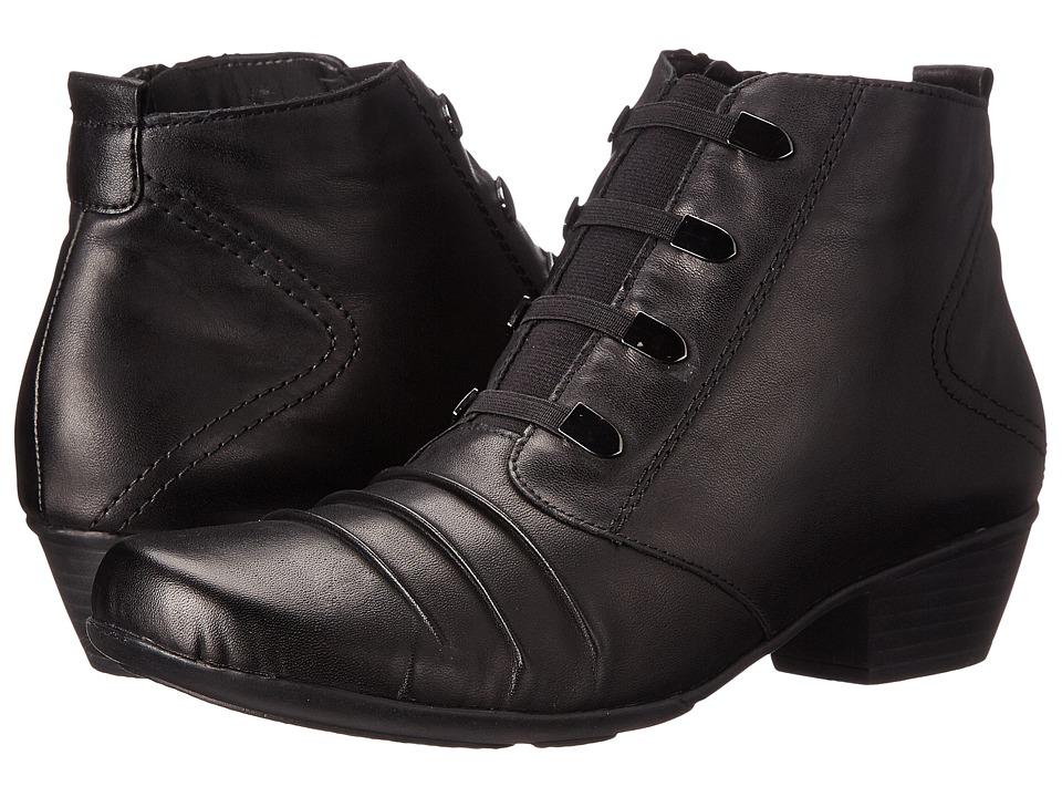 Rieker D7381 (Black Cristallino/Black Fino) Women