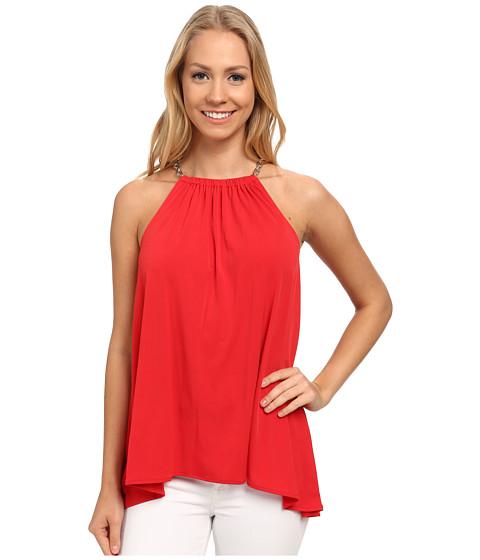 MICHAEL Michael Kors - Chain Neck Halter Top (True Red) Women's Clothing