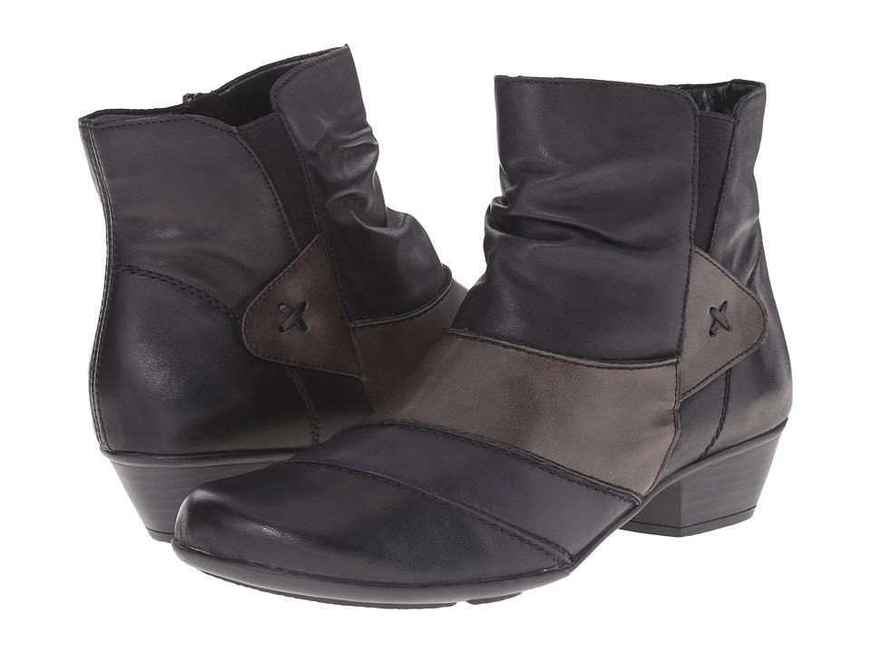 Rieker - D7393 (Schwarz Cristallino/Lake Cristallino/Graphite Bogota) Women's Dress Boots