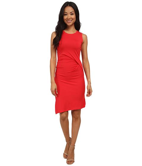 MICHAEL Michael Kors - Petite Sleeveless Open Crew Neck Drape Dress (True Red) Women