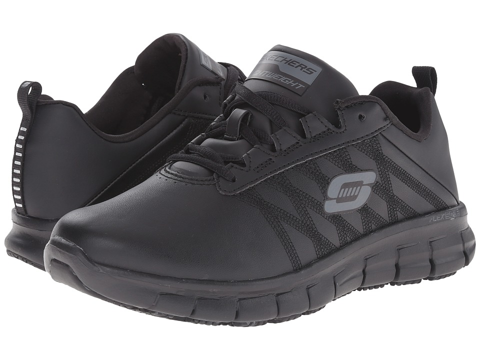 SKECHERS Work Sure Track Erath (Black) Women