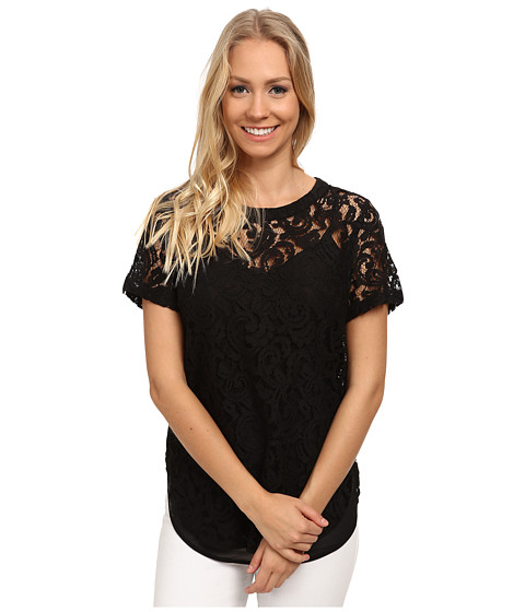 MICHAEL Michael Kors - Paisley Lace T-Shirt (Black) Women