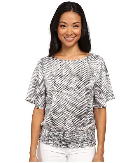 MICHAEL Michael Kors - Serpant Print Kimono (Concrete) Women's Blouse