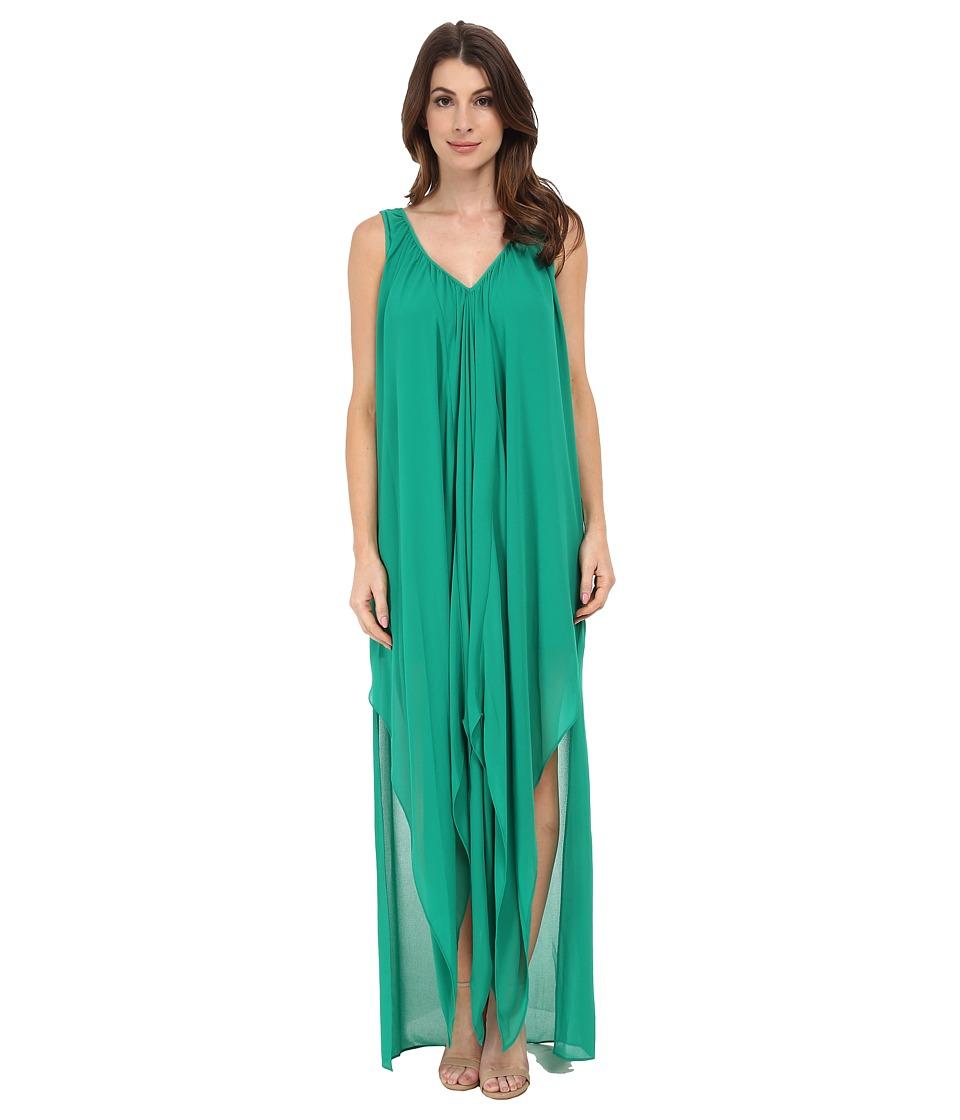 MICHAEL Michael Kors - Flutter Hi Lo Kaftan (Pepper Green) Women's Clothing