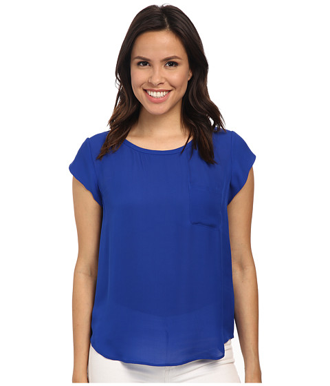 Joie - Rancher Silk Top (Deep Indigo) Women's Blouse