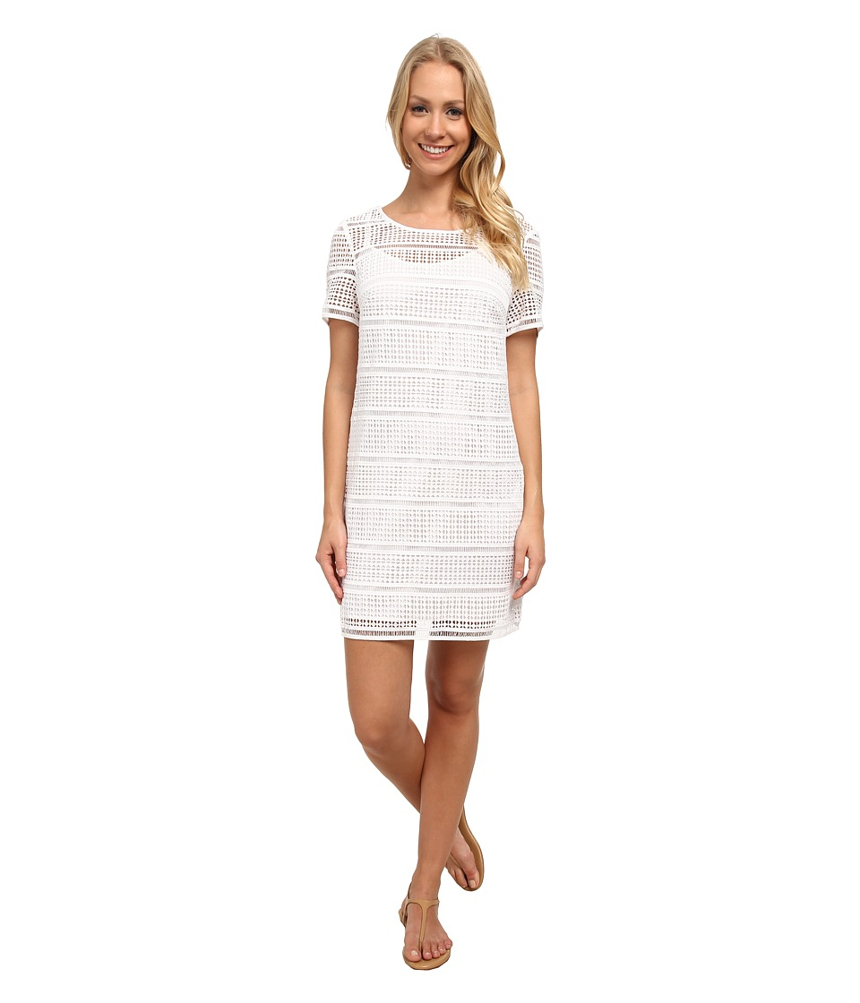 MICHAEL Michael Kors - Eyelet T-Shirt Dress (White) Women's Dress