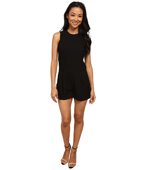 MICHAEL Michael Kors - Tailored Romper (Black) Women's Jumpsuit & Rompers One Piece