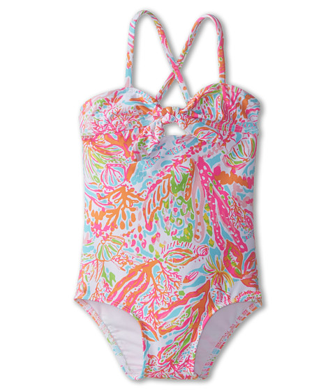 Lilly Pulitzer Kids - Julian Swimsuit (Toddler/Little Kids/Big Kids) (Resort White Scuba to Cuba) Girl