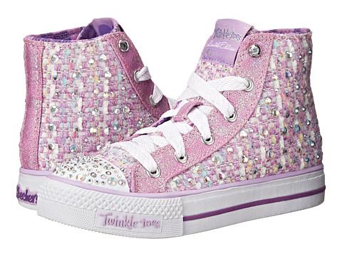 SKECHERS KIDS - Shuffles 10558L Lights (Little Kid/Big Kid) (Lavender/Purple) Girl's Shoes