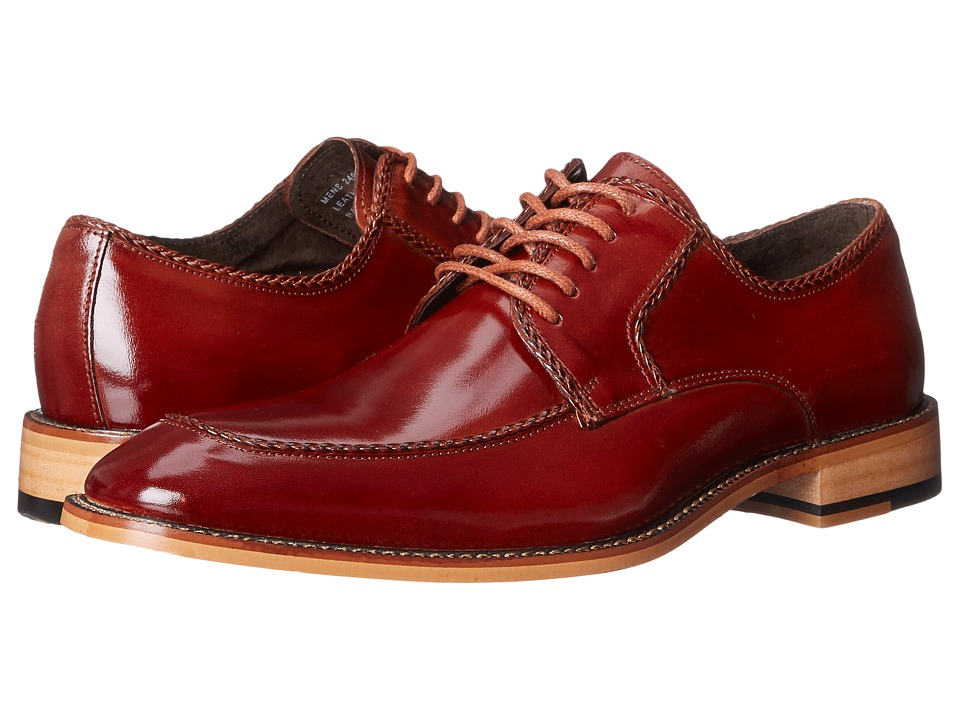 Stacy Adams - Bramwell (Cognac) Men's Lace Up Moc Toe Shoes