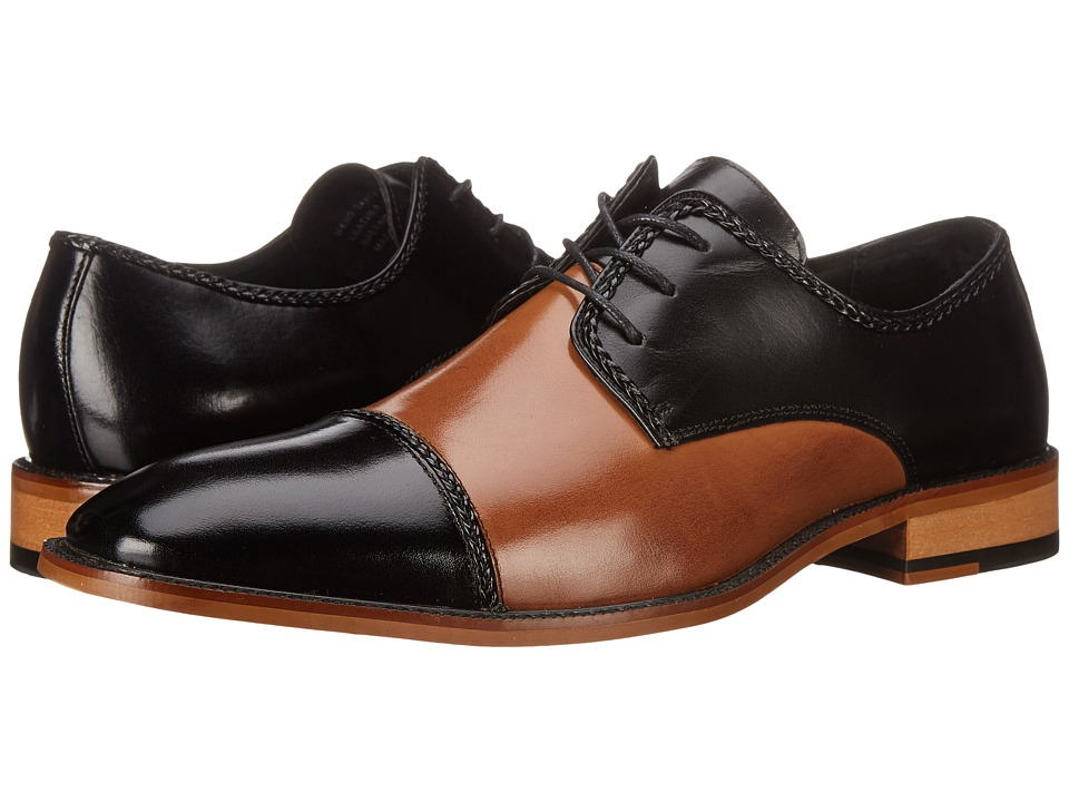 Stacy Adams - Brayden (Black/Tan) Men's Lace Up Cap Toe Shoes