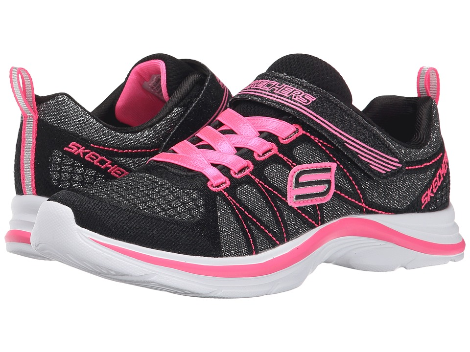 SKECHERS KIDS - Swift Kicks 81498L (Little Kid/Big Kid) (Black/Neon Pink) Girl's Shoes