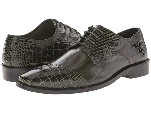 Stacy Adams - Garibaldi (Olive) Men's Lace Up Cap Toe Shoes