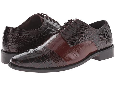 Stacy Adams - Garibaldi (Brown/Cognac) Men's Lace Up Cap Toe Shoes