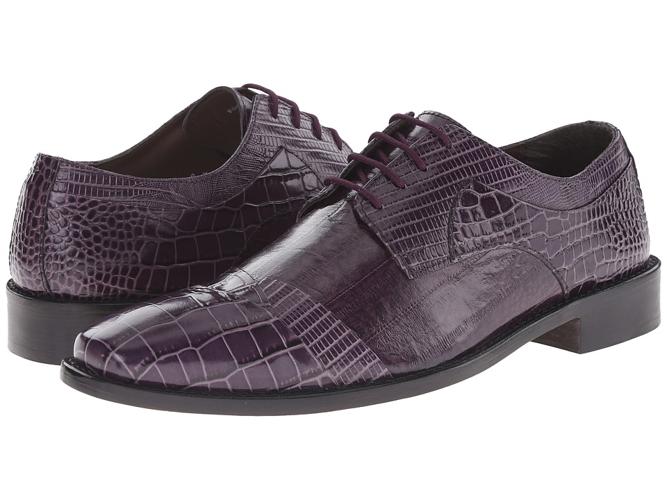 Stacy Adams - Garibaldi (Purple) Men's Lace Up Cap Toe Shoes