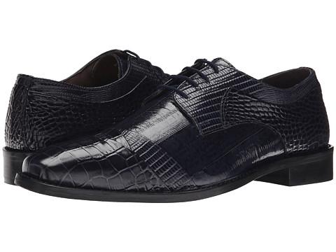 Stacy Adams - Garibaldi (Blue) Men's Lace Up Cap Toe Shoes