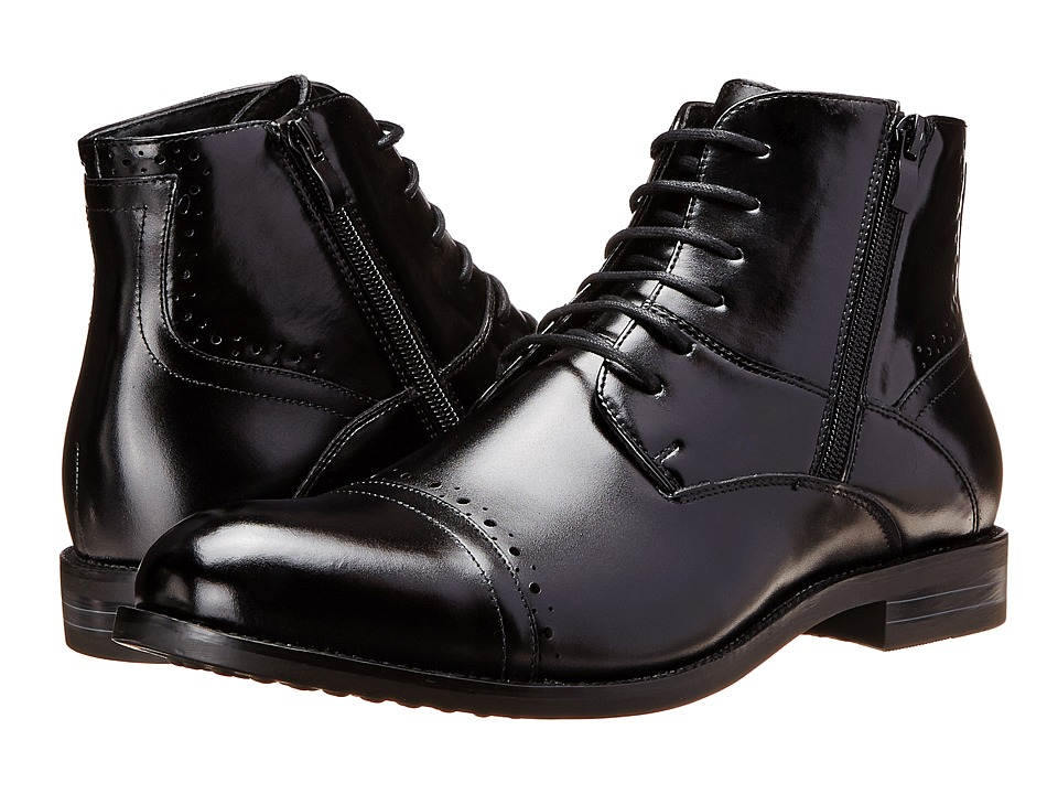 Stacy Adams - Godfrey (Black) Men's Lace Up Cap Toe Shoes