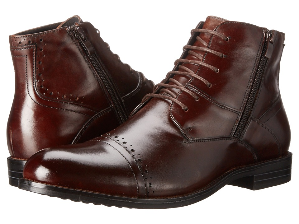 Stacy Adams - Godfrey (Brown) Men's Lace Up Cap Toe Shoes