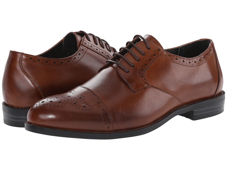 Stacy Adams - Granville (Cognac) Men's Lace Up Cap Toe Shoes