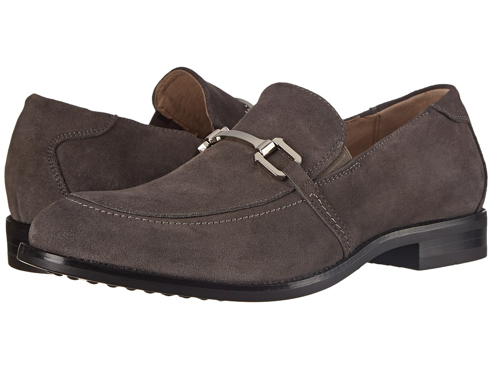 Stacy Adams - Gulliver (Gray Suede) Men's Lace Up Moc Toe Shoes