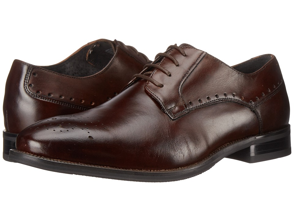 Stacy Adams - Kendrick (Brown) Men's Plain Toe Shoes
