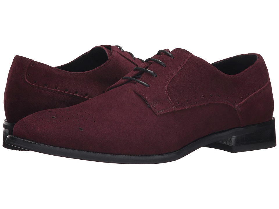 Stacy Adams - Kensingston (Oxblood Suede) Men's Plain Toe Shoes