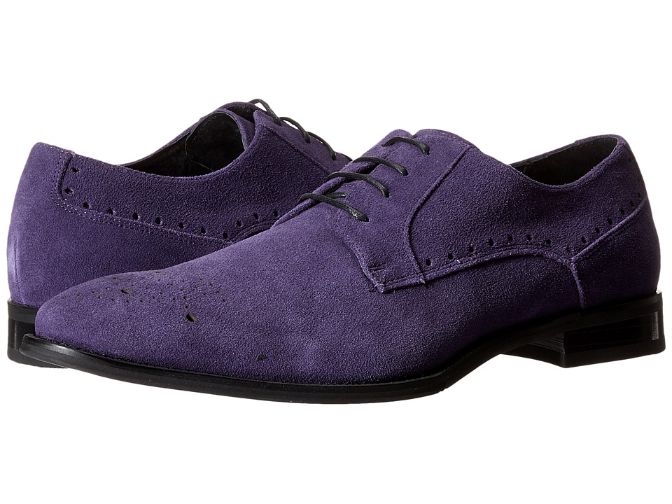 Stacy Adams - Kensingston (Purple Suede) Men's Plain Toe Shoes