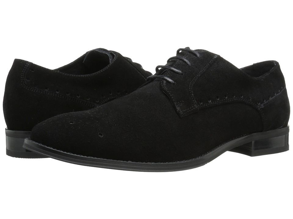 Stacy Adams - Kensingston (Black Suede) Men's Plain Toe Shoes