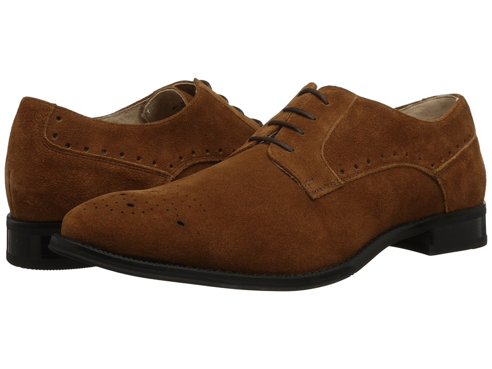 Stacy Adams - Kensington (Camel Suede) Men's Plain Toe Shoes