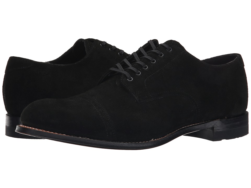 Stacy Adams - Madison (Black Suede) Men's Lace Up Cap Toe Shoes