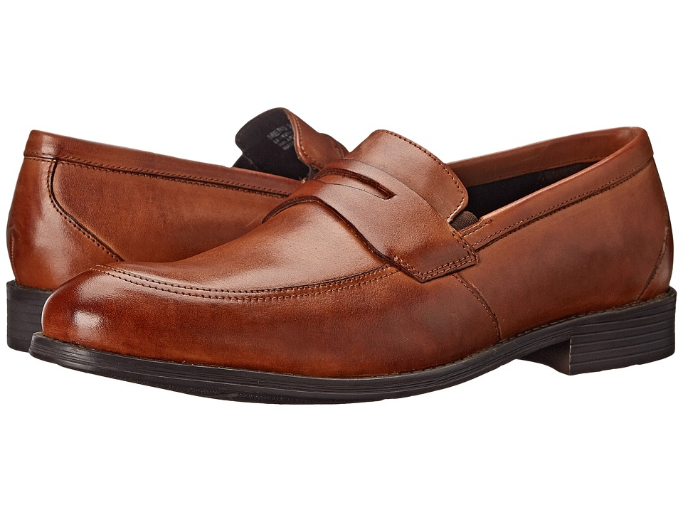Stacy Adams - Roswell (Cognac) Men's Lace Up Moc Toe Shoes