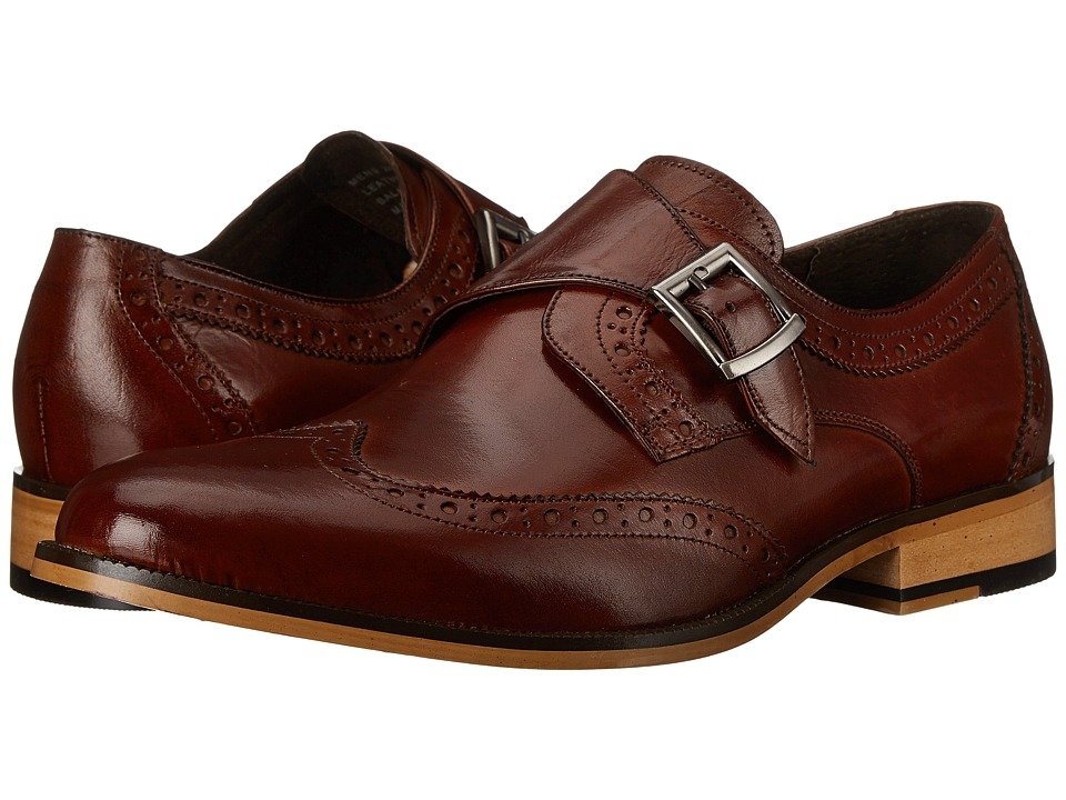 Stacy Adams - Stratford (Cognac) Men's Monkstrap Shoes