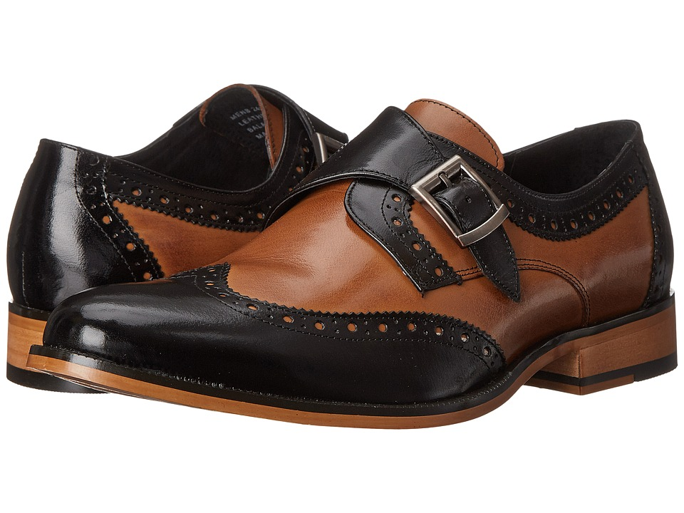 Stacy Adams - Stratford (Black/Tan) Men's Monkstrap Shoes