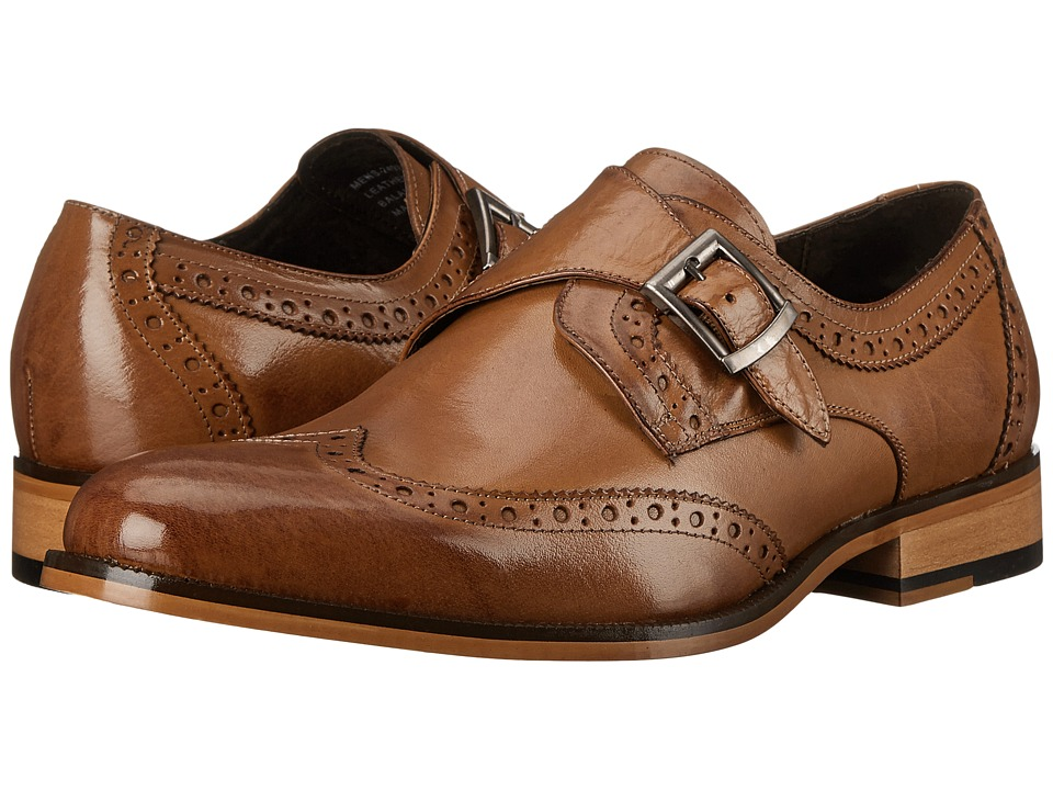 Stacy Adams - Stratford (Tan) Men's Monkstrap Shoes